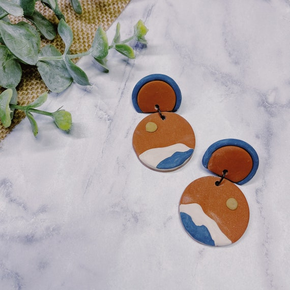 Desert Sun Polymer Clay Earrings