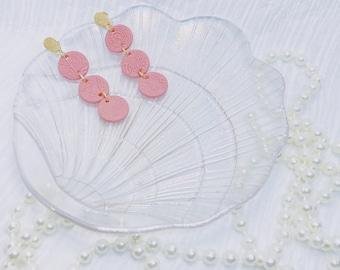 Peach Victorian   Polymer Clay Earrings