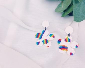 Rainbow Flower Dangles