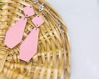 Blush Dangle Polymer Clay Earrings