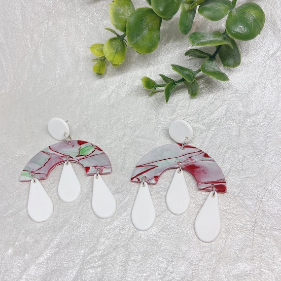 Holiday Season Festive Polymer Clay Earrings