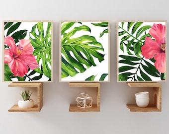 Tropical wall art  Etsy