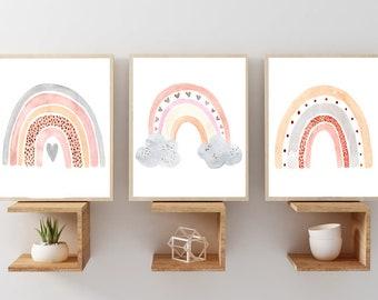 Baby Boh\u00e8me Nursery print wall decor Rainbow