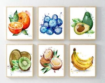 Pears ~ Ceramic Fruit Tile ~Fruit Wall Decor ~ Fruit Wall Plaques ~ Fruit Wall Art Set~Fruit Wall Hanging~Fruit Tile~Fruit and Vegetable Art