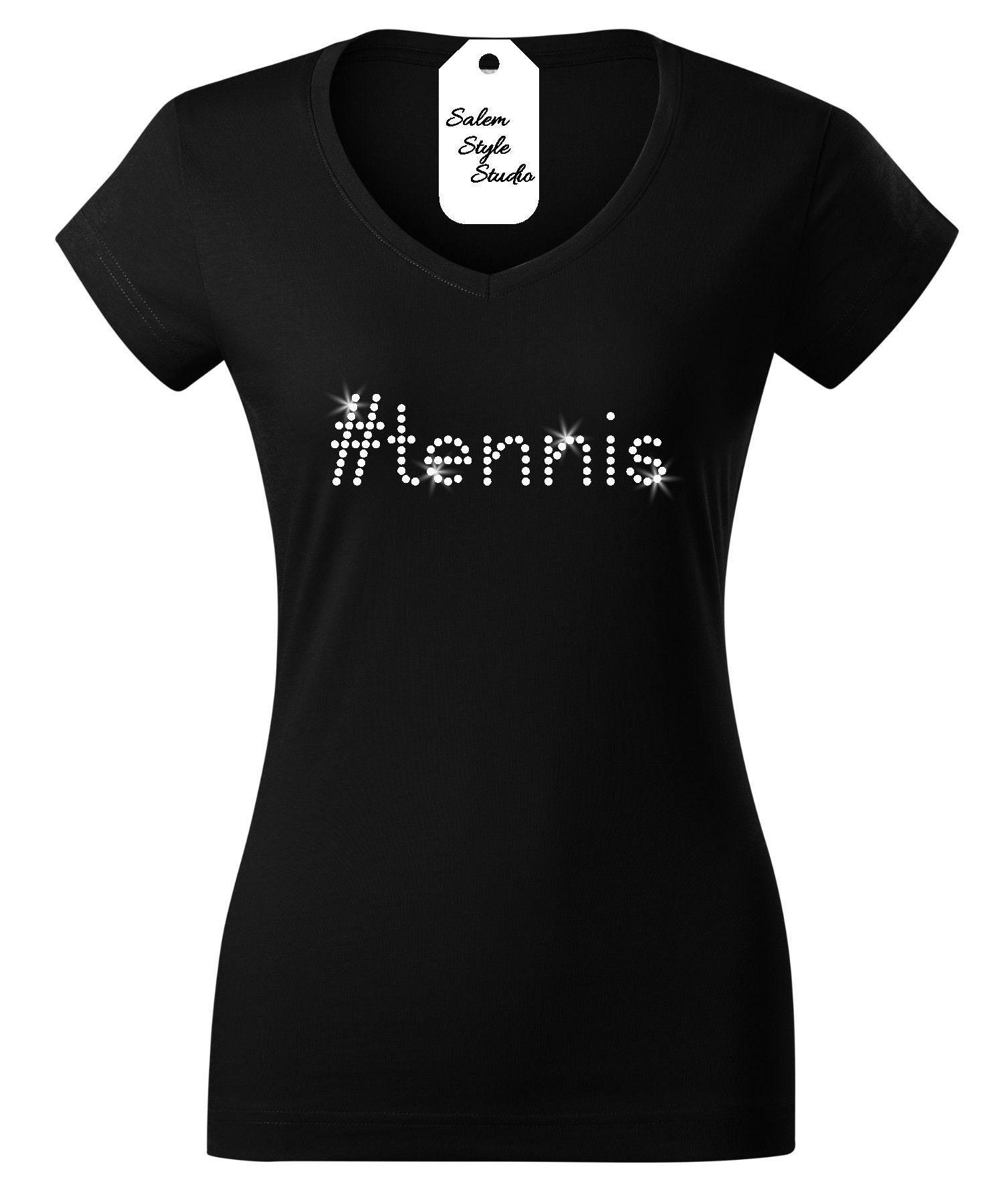 Hashtag Tennis T-shirt With Rhinestone Tennis Shirt Tennis Gift Tennis Hoodie Gift For Her Hashtag Shirt Sport Lover Shirt Unisex Tshirt