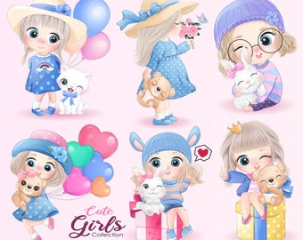 Cute Girls Clipart