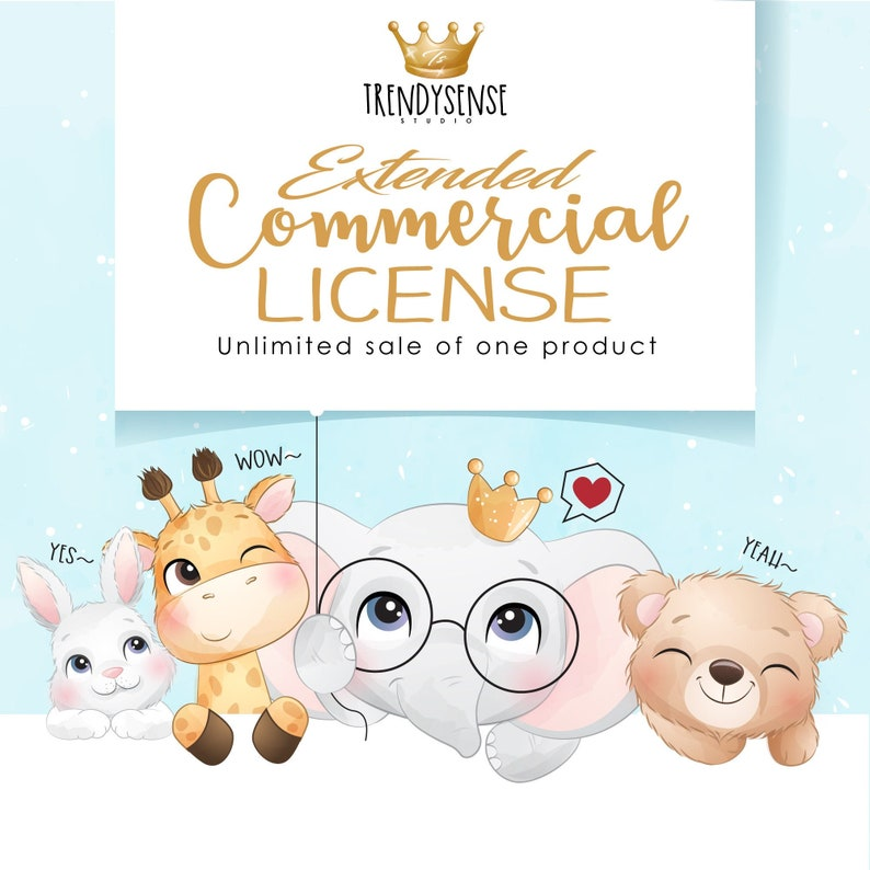 Extended Commercial License Unlimited sale of one product image 0