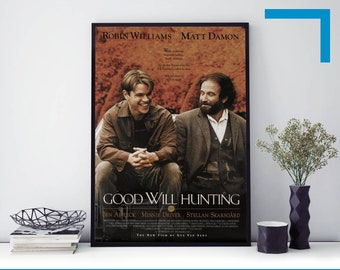 GOOD WILL HUNTING ROBIN WILLIAMS MOVIE POSTER FILM A4 A3 ART PRINT CINEMA