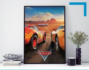 Cars 3 Movie Poster Etsy