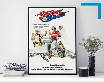1977 SMOKEY AND THE BANDIT Movie Film Poster Print A3 A4 A5 Home Decor