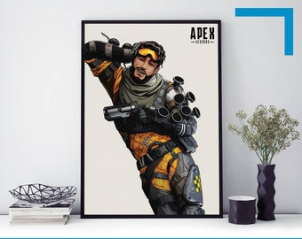 A4 A3 A2 A1 A0| Apex Legends Game Poster Print T1382