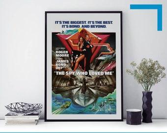 James Bond Live And Let Die Vintage Movie Poster Art Print A0 A1 A2 A3 A4 Maxi