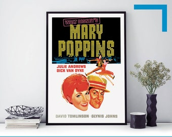Disney Mary Poppins Movie Poster Print T1744 A4 A3 A2 A1 A0|