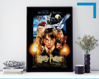 Harry Potter And The Philosophers Stone Movie Poster Print T147 A4 A3 A2 A1 A0 