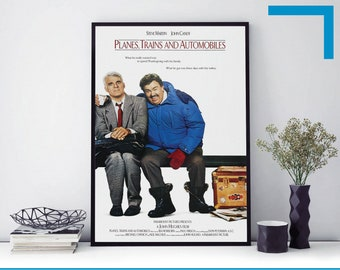 Print Picture A3 A4 Size Planes Trains and Automobiles Movie Film Poster