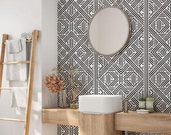 Bathroom Wallpaper Etsy