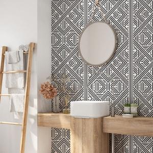Geometric Wallpaper Removable Wallpaper Modern Wallpaper Etsy