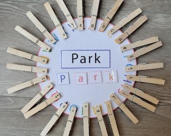 Letter Matching and Word Building Printable, Preschool Printable, Phonics Printable