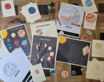 Solar System Mini Unit Study Bundle   Intro to Space   Printables for Kids