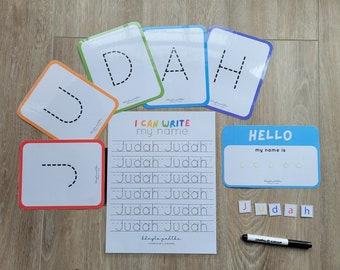 EDITABLE Name Writing Printable, Custom Name Tracing, Preschool Name Tracing Worksheet