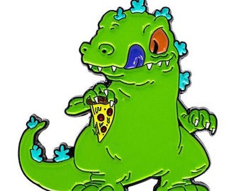 Raptor dinosaur pin enamel
