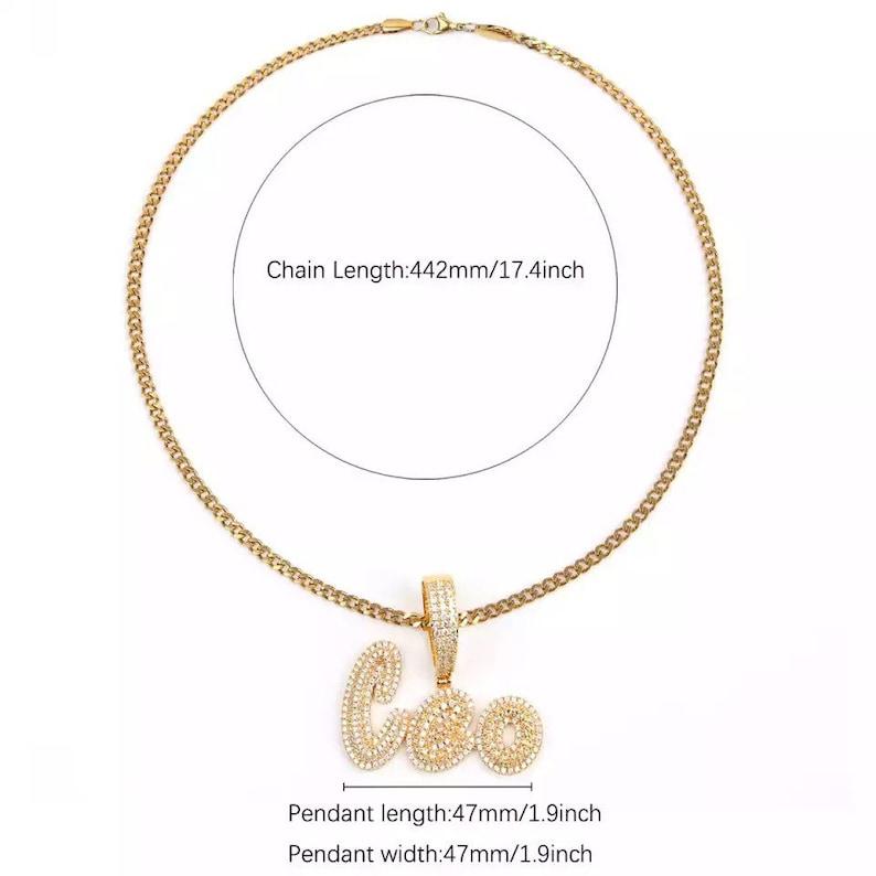 Custom name necklace diamond name necklace  personalized image 7