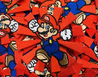 Retro Patch Jean Jacket On Patch Patches Mario Face Emblem Custom Embroidered Sew /& Iron Vintage Patch 90 Kids Patches Custom Patch