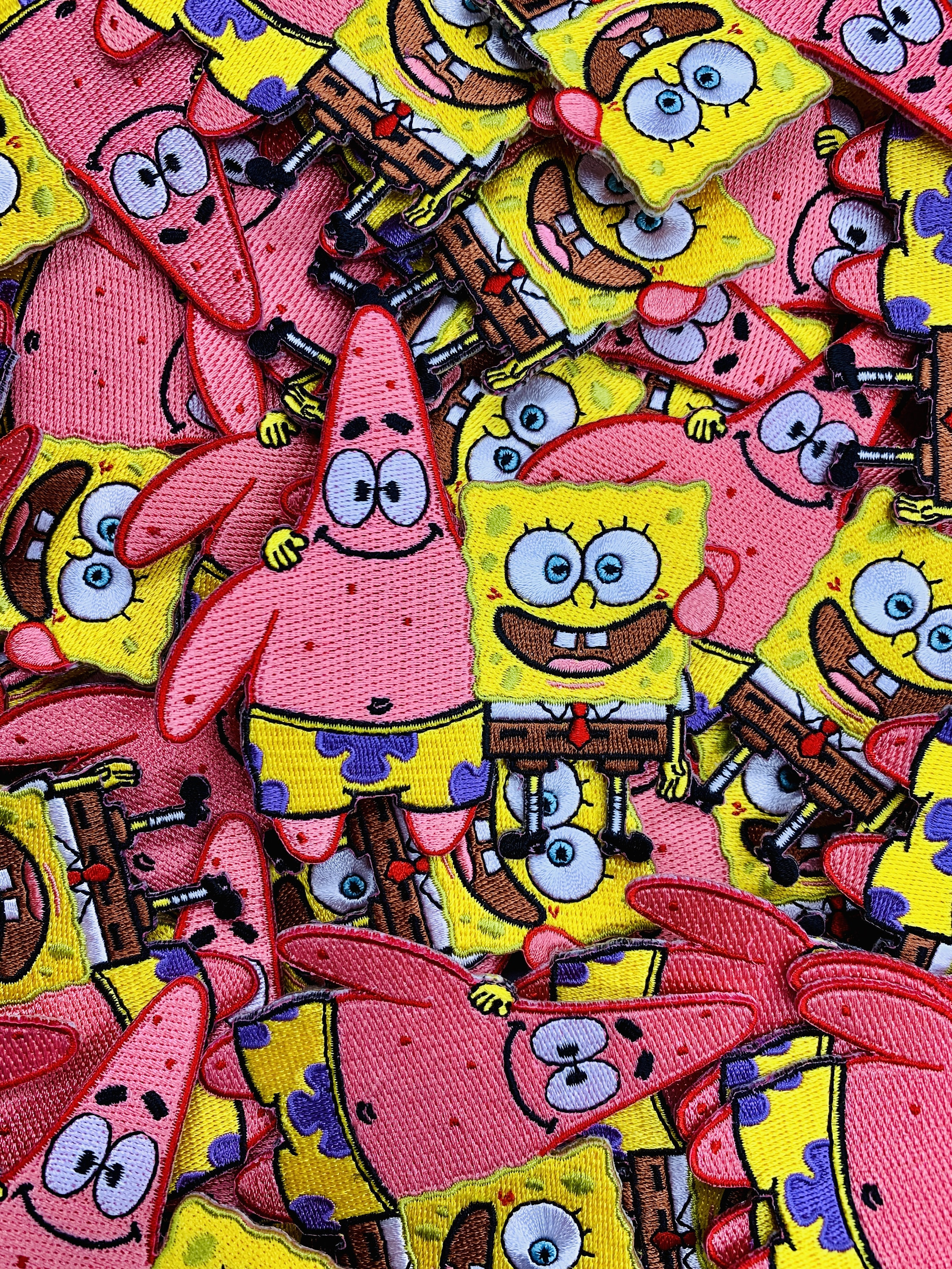Patch Iron-on SpongeBob Tag Embroidered Patrick