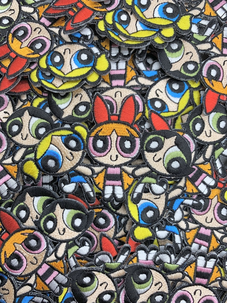 Patch Cartoon Shows 90s Kids Patches Limited Edition Patches Custom Patches Powerpuff Girls Embroidered Custom Iron-On or Sew-On Patch