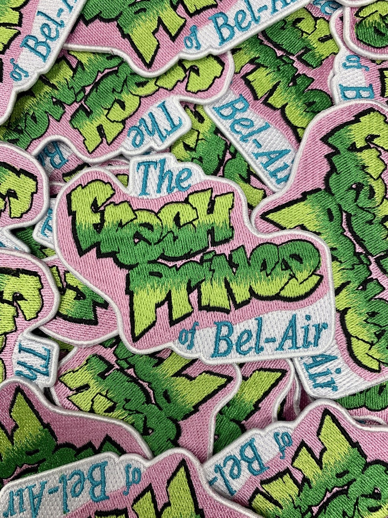 Limited Edition Patches Will Smith Fresh Prince of Bel Air Emblem Embroidered Custom Iron-On or Sew-On Patch 90s Kids Custom Patches