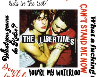 The Libertines Iconic 2002 Coldstream Guards/' Red Jacket Poster  Canvas