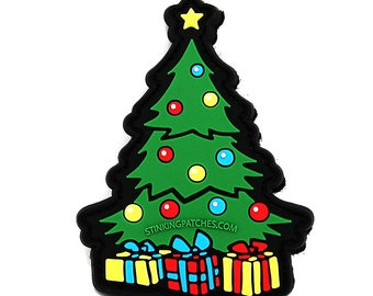 "2.25/"" Holiday Christmas Tree Embroidery Patch"