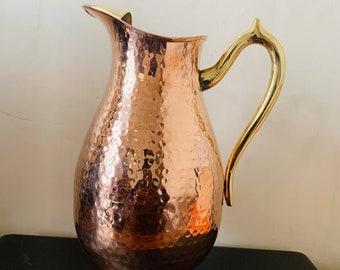 WEEDA TASMANIA Vintage Mid Century Hammered Copper Jug /& Vase Made in Australia