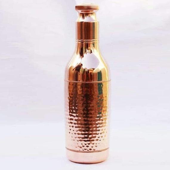 Reines Kupfer Flasche Ayurveda Heilung gehämmert Trinkwasserflasche 2 Tumbler