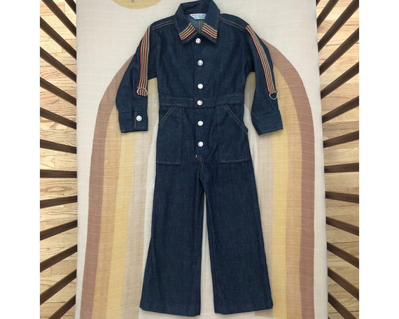 Vintage Health Tex Denim Coverall Jumpsuit with Ra