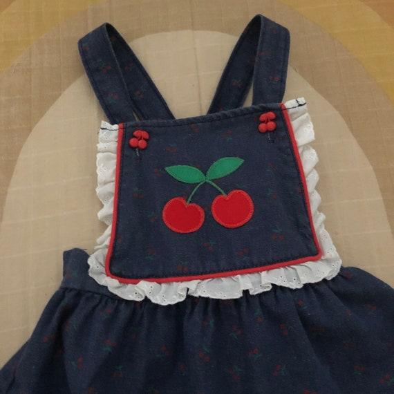 Vintage HealthTex Denim Pinafore Apron Dress with… - image 3