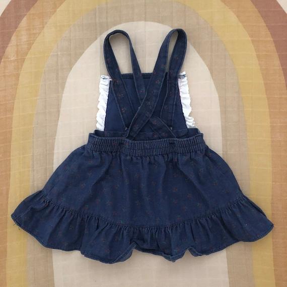 Vintage HealthTex Denim Pinafore Apron Dress with… - image 2