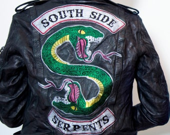 Riverdale South SIde Snake Serpents Iron On Patch Inspired Jacket Clothes 2 Pcs