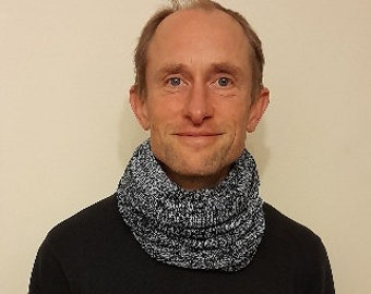 Beautiful Soft Acrylic Snood, hand crafted in the UK on a Victorian hand operated knitting machine,scarf,cowl or hood,warm and light