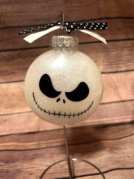 Personalized Jack Skellington Ornament, Nightmare Before Christmas Ornament, White Elephant Gift, Jack And Sally     Free Shipping!! by Etsy