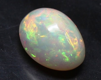 Grade Quality Natural Ethiopian Opal Smooth Cabochon Oval Shape Amazing Welo Fire Whole Sale Price OC#55. 11x8x4 MM AAA++