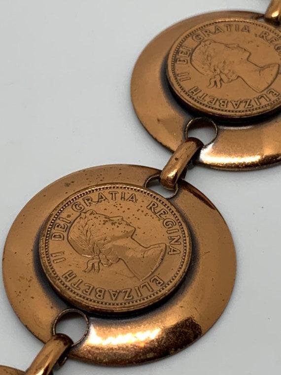 Canadian Penny Copper Bracelet, 1960's, Vintage Co