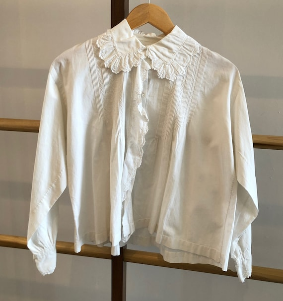 Antique Embroidered Cotton Blouse - image 2