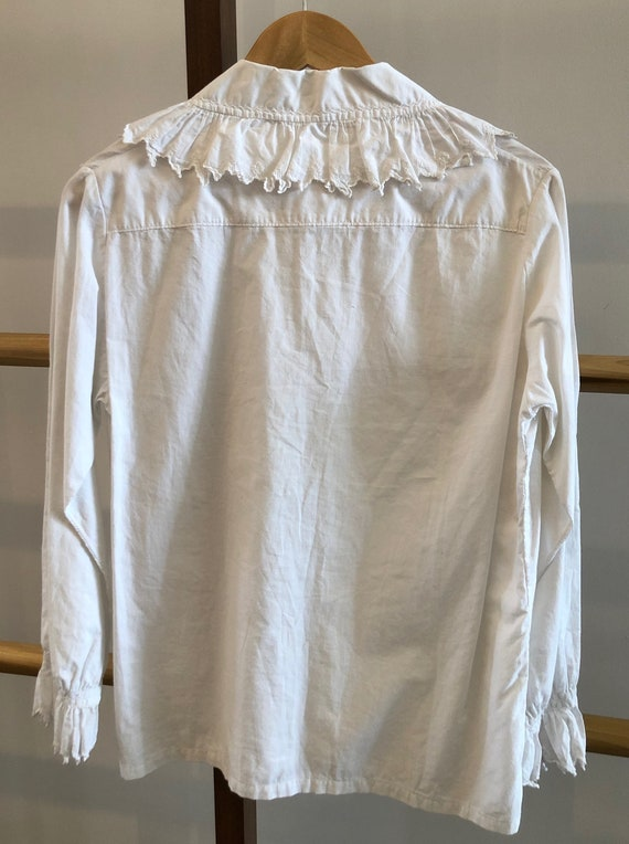 Antique Embroidered Blouse with Jester Trim - image 3