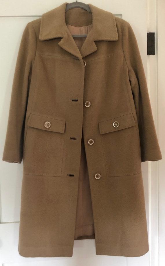 Vintage Camel Wool Coat