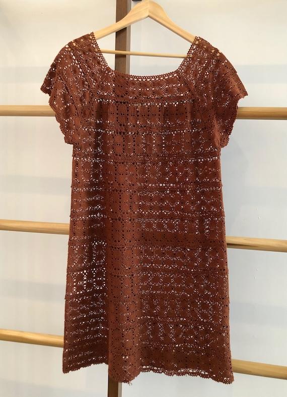 Vintage Hand Crochet Dress