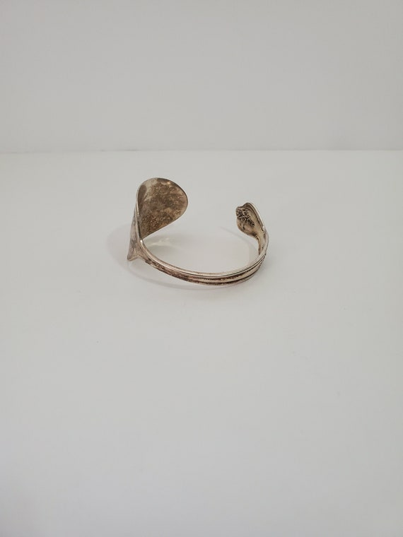 WM Rodgers Extra Plate Silver Tone Full Spoon Cuff