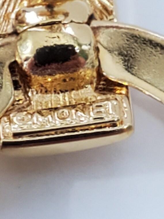 Monet Gold Tone Geometric Shapes Stud Dangle Pier… - image 6