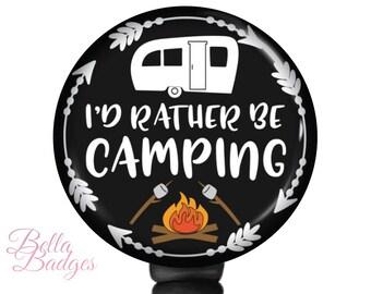 Campfire Interchangeable Badge Reel retractable