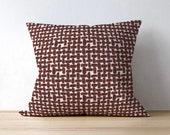 Red Outdoor Pillow Cover, Farley Farrow, Lattice Design, Outdoor Decor, Patio Seating, Outdoor Holiday Decor